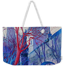 Weekender Tote Bag featuring the painting The Charles Bridge Blues by Marina Gnetetsky