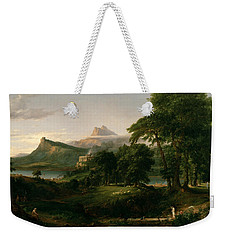The Course Of Empire The Arcadian Or Pastoral State Weekender Tote Bag
