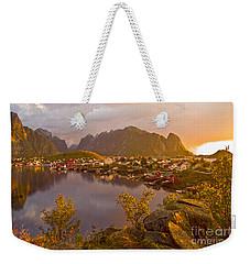 The Day Begins In Reine Weekender Tote Bag