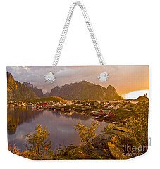 The Day Begins In Reine Weekender Tote Bag
