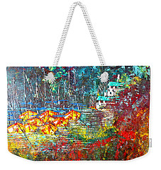 Beach House Weekender Tote Bag