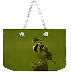 The Meadowlark Sings Weekender Tote Bag