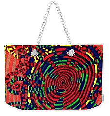 Weekender Tote Bag featuring the painting Polar Shift. by Jonathon Hansen