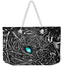 Weekender Tote Bag featuring the painting The Robin's Egg by Craig T Burgwardt