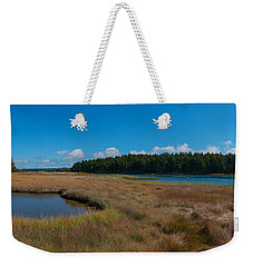 Thompson Island In Maine Panorama Weekender Tote Bag