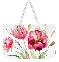 Three Tulips Flowers  Weekender Tote Bag