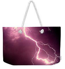 Lightning Weekender Tote Bag by Salman Ravish
