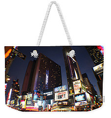 Times Square Nyc Weekender Tote Bag