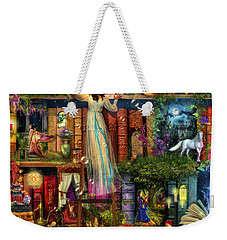 Treasure Hunt Book Shelf Weekender Tote Bag by Aimee Stewart