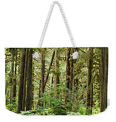 Trees In A Forest, Quinault Rainforest Weekender Tote Bag