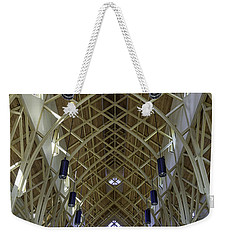 Trussed Arches Of Uf Chapel Weekender Tote Bag by Lynn Palmer