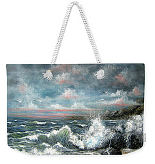 Weekender Tote Bag featuring the painting Turning Tide by Patrice Torrillo