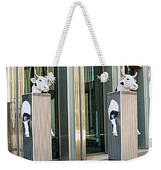 Cow Parade N Y C 2000 - Twin Cowers Weekender Tote Bag
