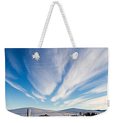 Weekender Tote Bag featuring the photograph Under Wyoming Skies by Michael Chatt
