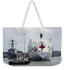 Us Naval Hospital Ship Comfort Weekender Tote Bag