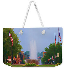 Veterans Memorial Fountain Belleville Illinois Weekender Tote Bag