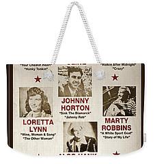 Vintage 1953 Grand Ole Opry Poster Weekender Tote Bag