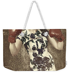 Vintage Boxing Pinup Poster Girl. Retro Fight Club Weekender Tote Bag