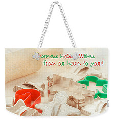 Vintage Christmas Cookie Cutters  Weekender Tote Bag by Marianne Campolongo