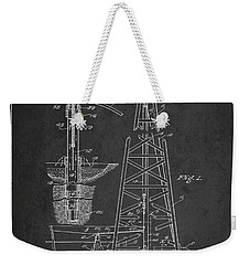 Vintage Oil Drilling Rig Patent From 1911 Weekender Tote Bag