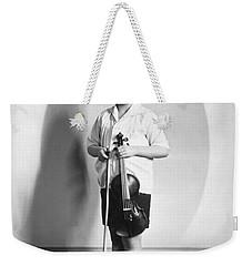 Violinist Yehudi Menuhin Weekender Tote Bag
