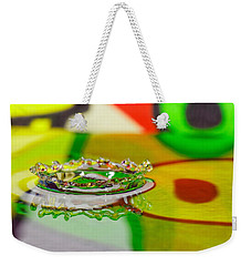 Water Crown Weekender Tote Bag by Peter Lakomy