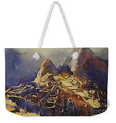 Watercolor Painting Machu Picchu Peru Weekender Tote Bag