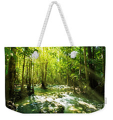 Waterfall In Rainforest Weekender Tote Bag