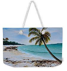 Weekender Tote Bag featuring the painting West Of Zanzibar by Sher Nasser