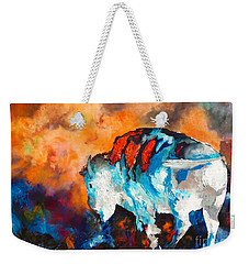 White Buffalo Ghost Weekender Tote Bag