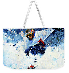 Weekender Tote Bag featuring the painting White Magic by Hanne Lore Koehler
