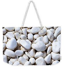 White Pebbles Weekender Tote Bag