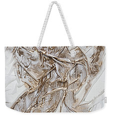 White With Gold Weekender Tote Bag