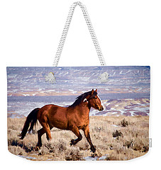 Eagle - Wild Horse Stallion Weekender Tote Bag by Nadja Rider