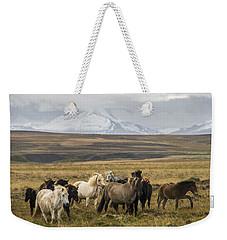 Wild Icelandic Horses Weekender Tote Bag