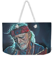 Weekender Tote Bag featuring the pastel Willie by Peter Suhocke