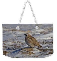 Winter Bird Weekender Tote Bag