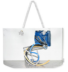 Weekender Tote Bag featuring the photograph Wire Box by Henrik Lehnerer