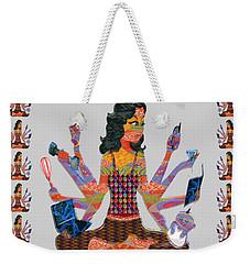 Modern Woman Female Spiritual Inspiration Multitasking Leadership Goddess Background Designs   Weekender Tote Bag