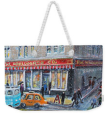 Woolworth's Holiday Shopping Weekender Tote Bag by Rita Brown
