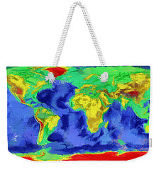 World Map Art Weekender Tote Bag