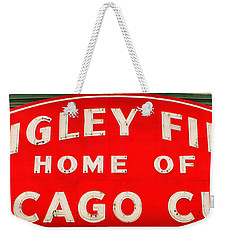 Wrigley Field Sign Weekender Tote Bag