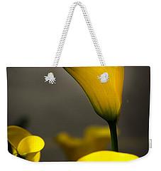 Yellow Calla Lilies Weekender Tote Bag by Menachem Ganon