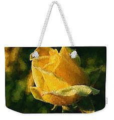 Yellow Rose In Watercolor Weekender Tote Bag