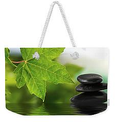 Zen Stones On Water Weekender Tote Bag