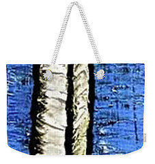 Weekender Tote Bag featuring the painting 10-001 by Mario Perron