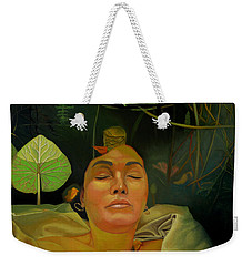 Weekender Tote Bag featuring the painting 10 30 A.m. by Thu Nguyen