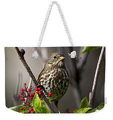 Fox Sparrow Weekender Tote Bag by Doug Lloyd