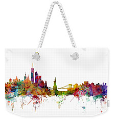 New York Skyline Weekender Tote Bag by Michael Tompsett