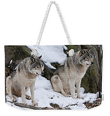 Timber Wolves Weekender Tote Bag